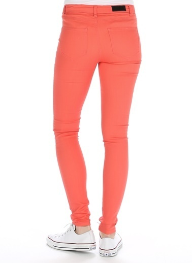 Vero Moda Vero Moda 10074142 Dar PaÇa Kadın Denim Pantolon Lacivert